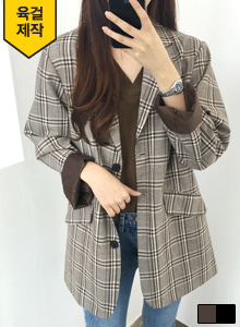 66GIRLSFlap Pocket Check Jacket