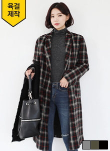 66GIRLSDouble Breasted Check Coat
