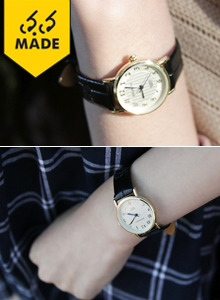 66GIRLSRound Face Wristwatch