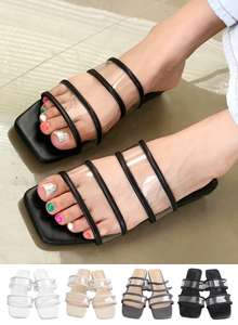 66GIRLSTransparent Strap Sandals