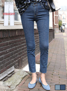 66GIRLSMid Rise Raw Hem Slim Jeans
