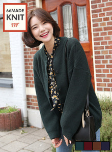 66GIRLSLoose Fit Knit Cardigan