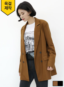 66GIRLSDouble Breasted Peak Lapel Jacket