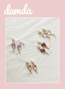 66GIRLSFaceted Drop-Shaped Detail Earrings